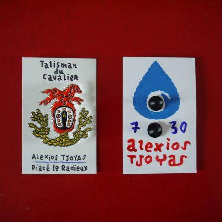 Talisman du cavalier, broche signée et numérotée